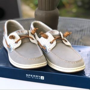 Sperry Bluefish Graphite/Stripe Boat Shoes
